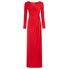 Buy Alexon Lace Trim Jersey Maxi Dress, Red Online at johnlewis.com