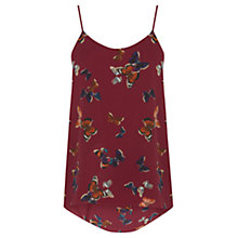Buy Oasis Butterfly Camisole, Multi Red Online at johnlewis.com