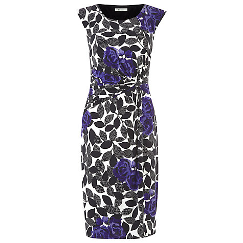 Buy Precis Petite Leaf Print Jersey Dress, Multi Online at johnlewis.com