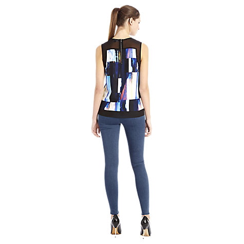 Buy Warehouse Zip Side Denim Legging, Mid Wash Denim Online at johnlewis.com