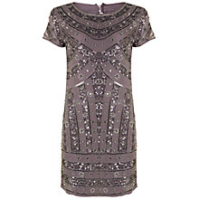 Buy Rise Naomi Embellished Dress, Silver Online at johnlewis.com