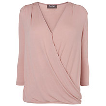 Buy Phase Eight Carissa Wrap Blouson Top, Pink Online at johnlewis.com