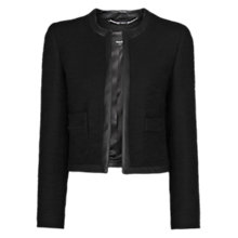Buy Mango Contrast Trimming Bouclé Jacket, Black Online at johnlewis.com