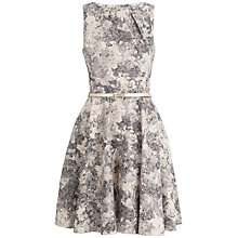 Buy Closet Jacquard Dress, Gold Online at johnlewis.com