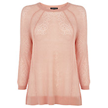 Buy Warehouse Pointelle Seam Jumper, Coral Online at johnlewis.com