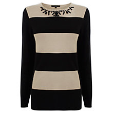 Buy Coast Luka Striped Knitted Top, Mono Online at johnlewis.com