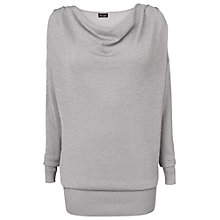 Buy Phase Eight Maddy Metallic Cowl Jumper, Silver Online at johnlewis.com