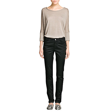 Buy Mango Slim Fit Cotton Trousers Online at johnlewis.com