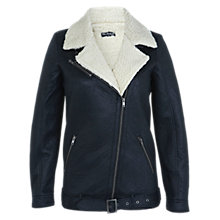 Buy Miss Selfridge Bonded Jacket, Navy Online at johnlewis.com
