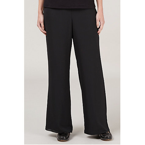 Buy Windsmoor Georgette Trousers, Black Online at johnlewis.com