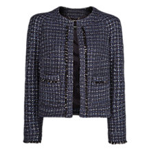 Buy Mango Frayed Detail Jacket, Navy Online at johnlewis.com