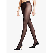 Buy Falke Pure Matte Summer Light 20 Denier Tights, Black Online at johnlewis.com