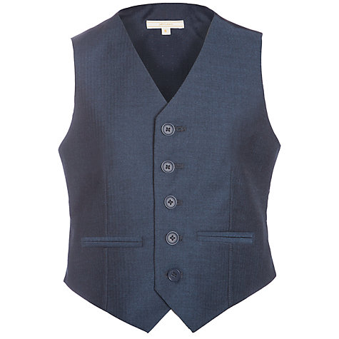 Buy John Lewis Heirloom Collection Boys' Herringbone Waistcoat, Blue Online at johnlewis.com