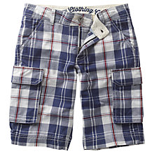 Buy Crew Clothing Boys' Linen Check Shorts, Multi Online at johnlewis.com
