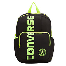 Buy Converse Logo Patch Backpack, Black Online at johnlewis.com