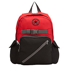 Buy Converse Diagonal Zip Backpack, Red/Black Online at johnlewis.com