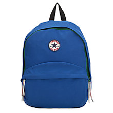 Buy Converse Logo Patch Backpack, Blue Online at johnlewis.com