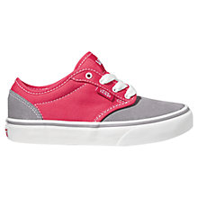 Buy Vans Atwood Two-Tone Trainers, Pink/Grey Online at johnlewis.com