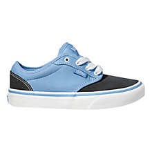 Buy Vans Atwood Canvas Trainers, Blue/Black Online at johnlewis.com
