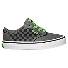 Buy Vans Atwood Check Pattern Trainers, Pewter/Black/Green Online at johnlewis.com