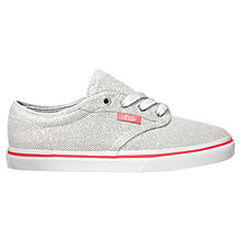 Buy Vans Atwood Metallic Trainers, Silver/White Online at johnlewis.com