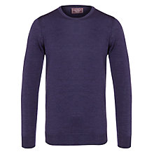 Buy John Lewis Made in Italy Merino Crew Neck Jumper, Lilac Online at johnlewis.com