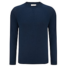 Buy John Lewis Made in Italy Cotton Crew Neck Jumper, Denim Online at johnlewis.com