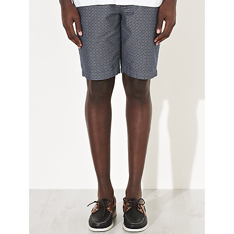 Buy JOHN LEWIS & Co. Chambray Geo Cross Print Shorts, Blue Online at johnlewis.com