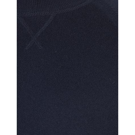 Buy John Lewis Italian Cotton Sweatshirt, Navy Online at johnlewis.com