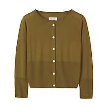 Buy Toast Fine Wool Crop Cardigan, Khaki Online at johnlewis.com
