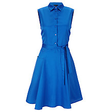 Buy Tara Jarmon Wrap Cotton Dress, Bleu Vif Online at johnlewis.com