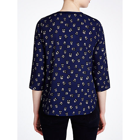 Buy Tara Jarmon Owl Print Shirt, Marine Online at johnlewis.com