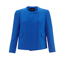 Buy Tara Jarmon Collarless Wool Jacket, Bleu Vif Online at johnlewis.com