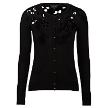 Buy Armani Jeans Cut Out Detail Cardigan, Black Online at johnlewis.com