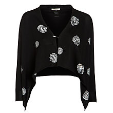 Buy Crea Concept Polka Dot Cardigan, Black/White Online at johnlewis.com