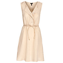 Buy Armani Jeans Draw String Dress, Beige Online at johnlewis.com