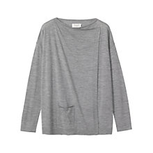 Buy Toast Fine Wool Drape Cardigan, Grey Online at johnlewis.com