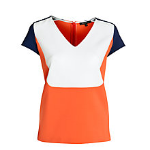 Buy Tara Jarmon Colour Block Top, Ecru Online at johnlewis.com