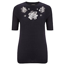 Buy Tara Jarmon Lace Flower Top, Marine Online at johnlewis.com