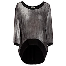 Buy Crea Concept Shadow Print Top, Black Online at johnlewis.com