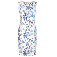 Buy Armani Jeans Sleeveless Print Dress, White/Blue Online at johnlewis.com