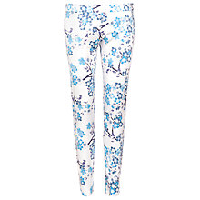 Buy Armani Jeans Crop Print Trousers, Blue/White Online at johnlewis.com