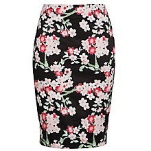 Buy Armani Jeans Printed Skirt, Black Floral Online at johnlewis.com