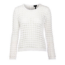 Buy Armani Jeans Loose Knit Top, White Online at johnlewis.com