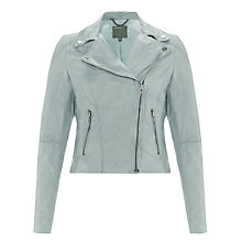 Buy Muubaa Indus Biker Jacket, Powder Blue Online at johnlewis.com
