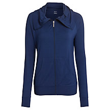 Buy John Lewis Full Zip Yoga Jacket, Navy Online at johnlewis.com