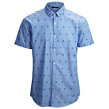 Buy Selected Homme Hula Short Sleeve Shirt, Chambray Blue Online at johnlewis.com