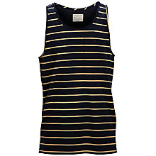 Buy Selected Homme Dave Stripe Tank Top, Black/Yellow Online at johnlewis.com