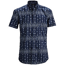 Buy Selected Homme Open Cotton Long Sleeve Shirt, Night Sky Online at johnlewis.com