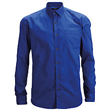 Buy Selected Homme Overdyed Twill Long Sleeve Shirt, Blue Atoll Online at johnlewis.com